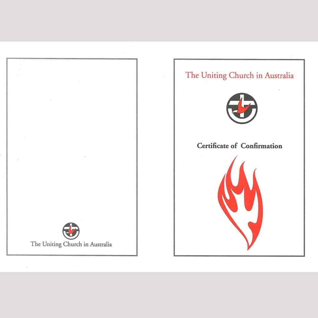 Confirmation Certificate 1 Pk 10 Church Stores