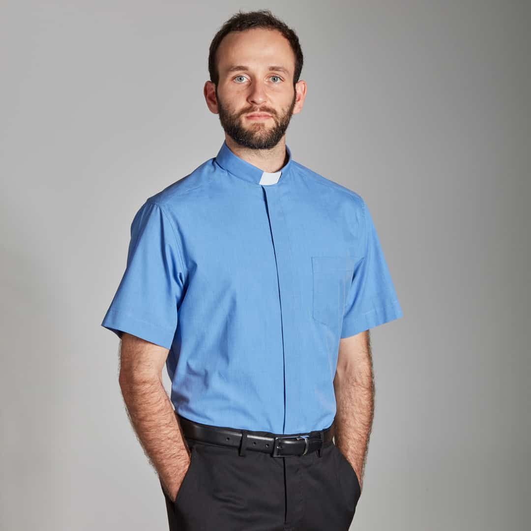 Mens Tab Collar Short Sleeve Shirts