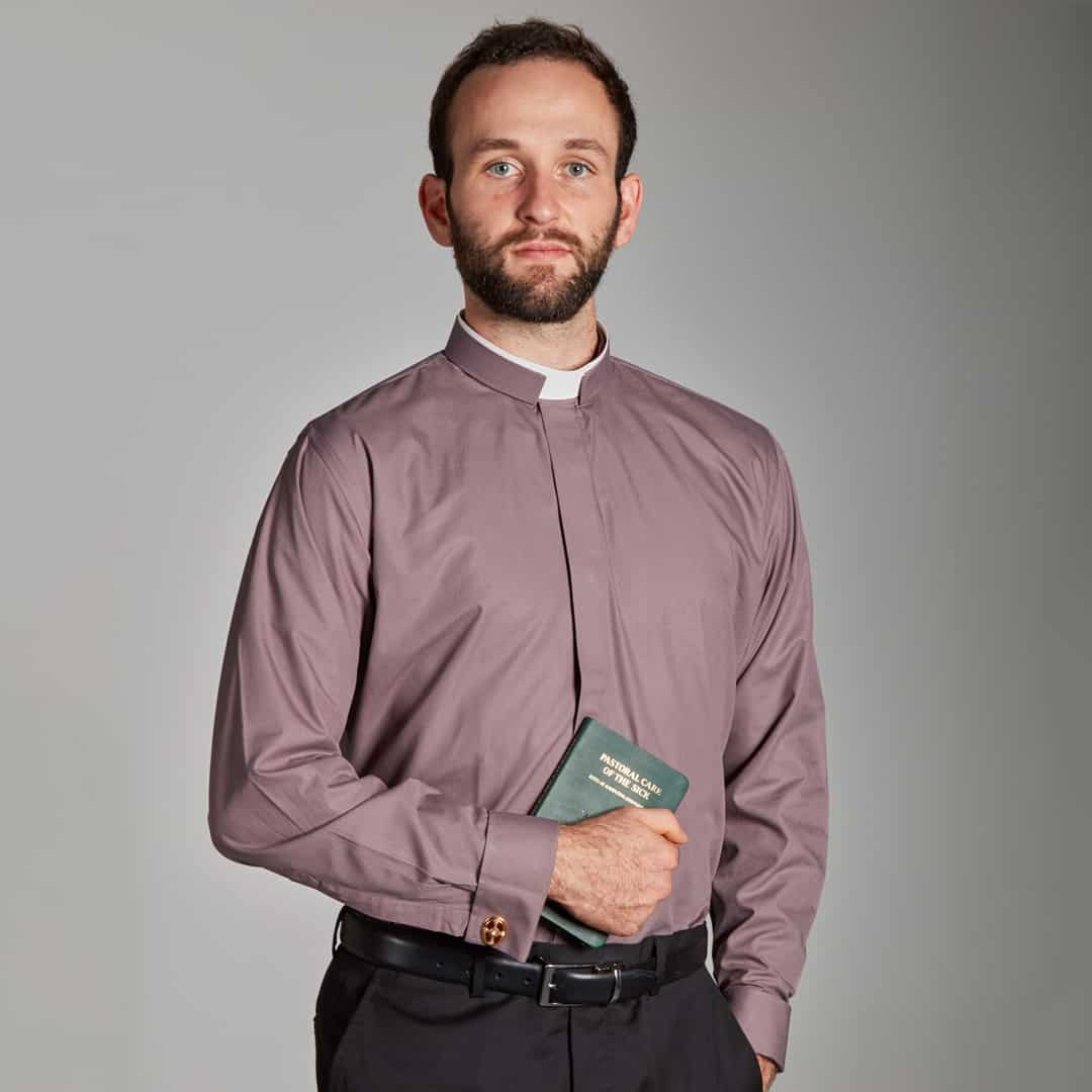 Mens Tonsure Collar Shirts -Double Cuff